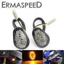 Per Yamaha YZF R1 2002-2004 2008 YZF R6 2003-2007 2008 Moto Indicatori di direzione A LED Montaggio A Filo luce Ambra Indicatore Della Lampada