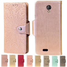 Embossing Stand Flip PU Leather wallet Case Cover For Fly IQ4415 Quad ERA Style 3 Phone Cases(China)