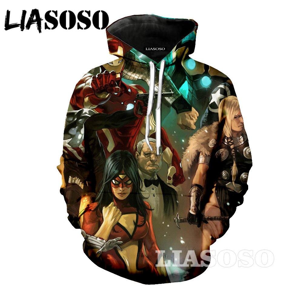 LIASOSO Hoodies 3D Unisex Sweatshirt Men Brand Hoodie 3d printed Tracksuit Fashion Hooded Pullover Streetwear rt5874