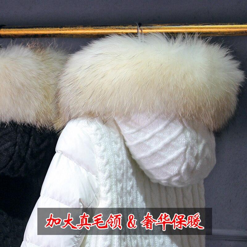 2018 Plein Noir Bureau Si Manteaux Slim Nouvelle 250g Duvet Zipper Vers Bas Blanc 90 blanc Chen Drap Le Long De Dame Qian Arrivée Épais Solides 300g Canard rwrqp4vS