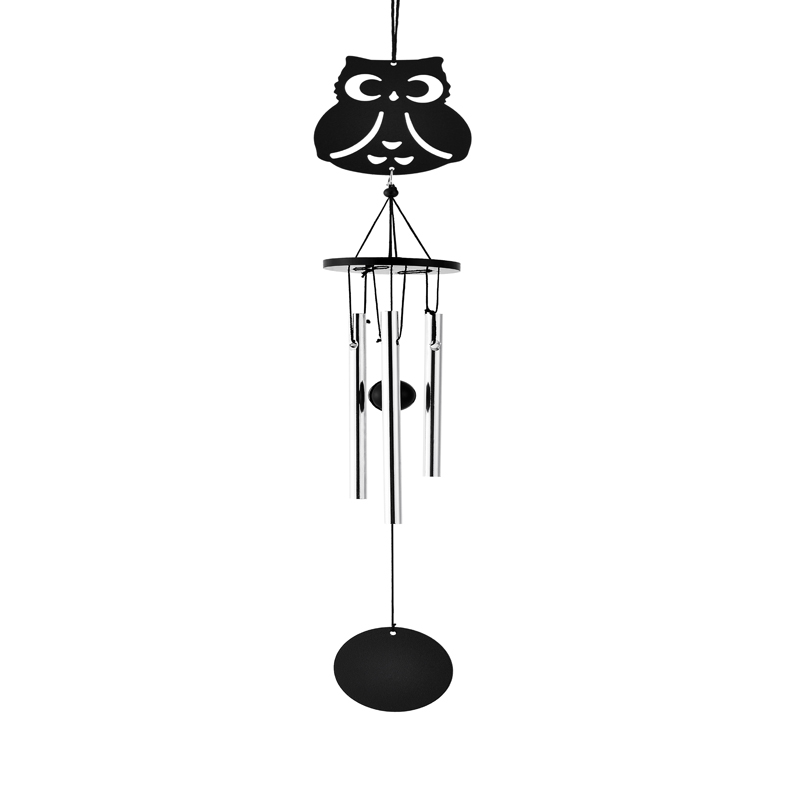 wedding decoration hot 3 tube wall hanging owl church bells wind chimes out door decoration w16016
