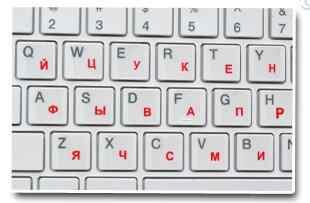 エコ環境プラスチック白ロシア文字のキーボードステッカー透明な背景
