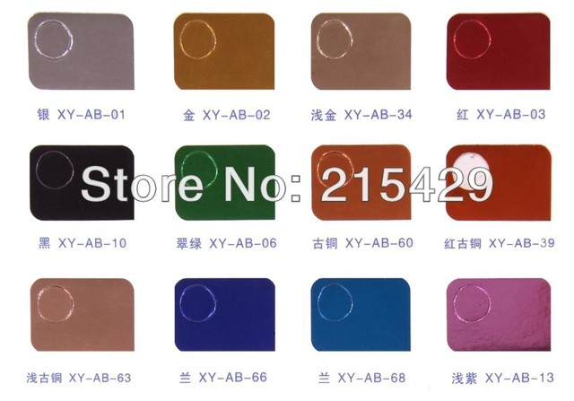 100 rolls/lot Mix 101colors Nail Art Foil Transfer Stciker Coloful Nail Art sticker with bottle package