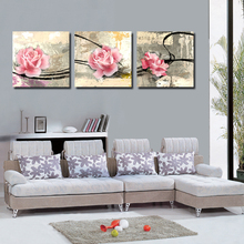 3pcs Print poster canvas Wall Art Abstract roses Decoration painting Modular pictures on the wall sitting room frame art-033