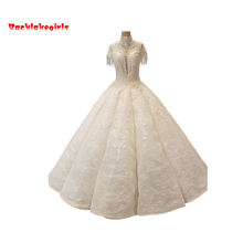 Backlakegirls Vintage Ball Gowns Wedding Dress Floor-length
