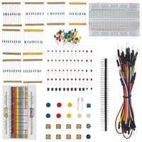 Starter Kit For Arduino Resistor LED Capacitor Jumper Wires Breadboard Resistor Kit With Retail Box Free