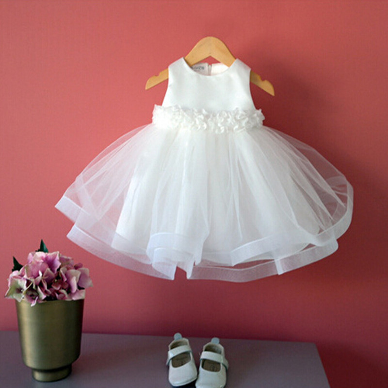 Ivory one year old birthday party baby girl dress wedding for Wedding dresses for baby girl