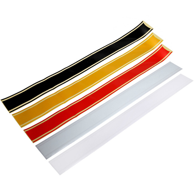 1pc Cafe Racer Motorcycle Fuel Tank Cover Decal Sticker Strip Moto Decoration Silver/Red/Black/Golden/Wihte 50*5CM