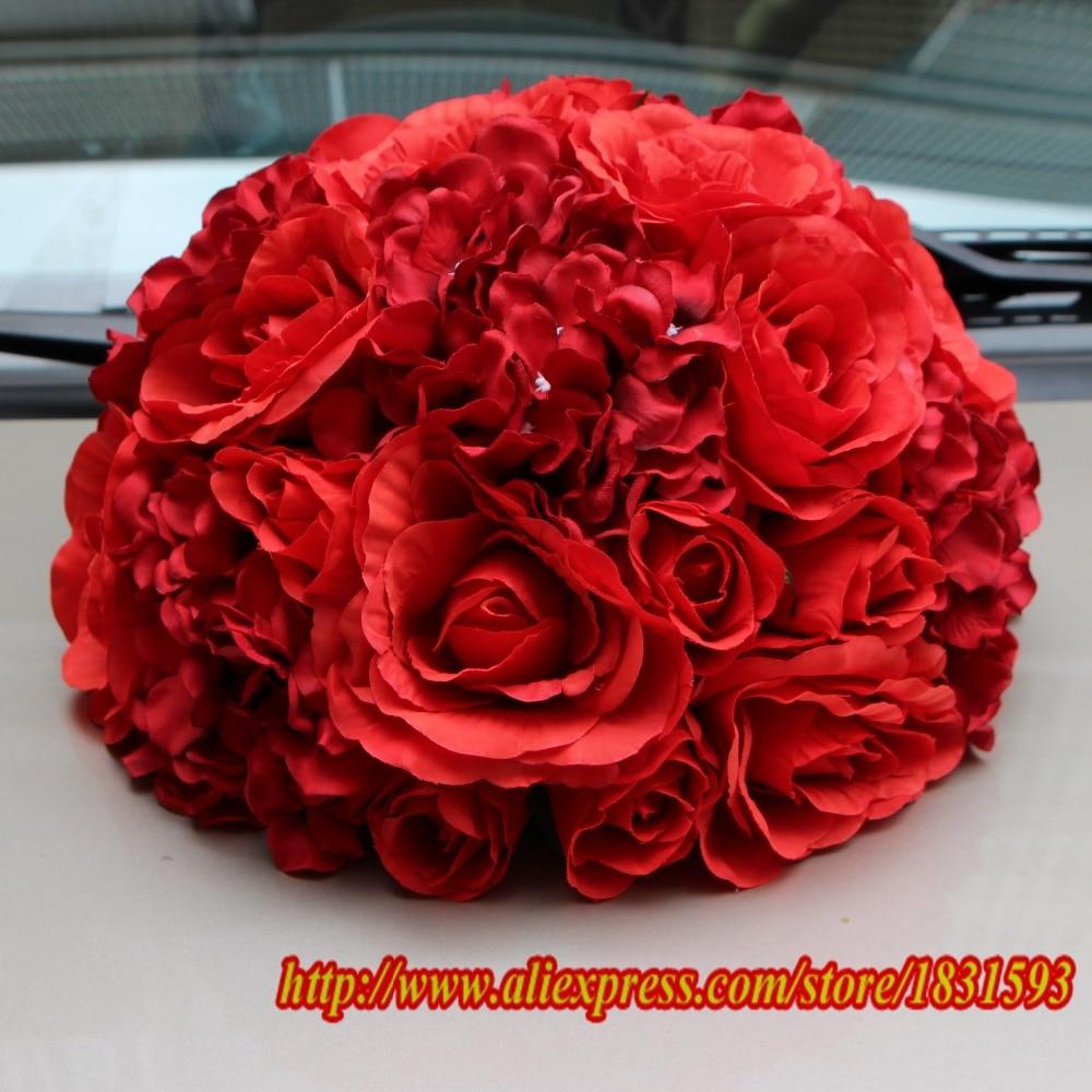 Décoration de mariage fleur Table fleur mariage fond fleur mur Table pièce maîtresse fleur boule 30 cm 10 pcs/lot TONGFENG-in Fleurs séchées et artificielles from Maison & Animalerie    1