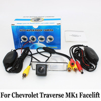 Car Parking Camera For Chevrolet Traverse MK1 Facelift 2013~2017 / RCA AUX Wire Or Wireless / HD Night Vision Rear View Cameras