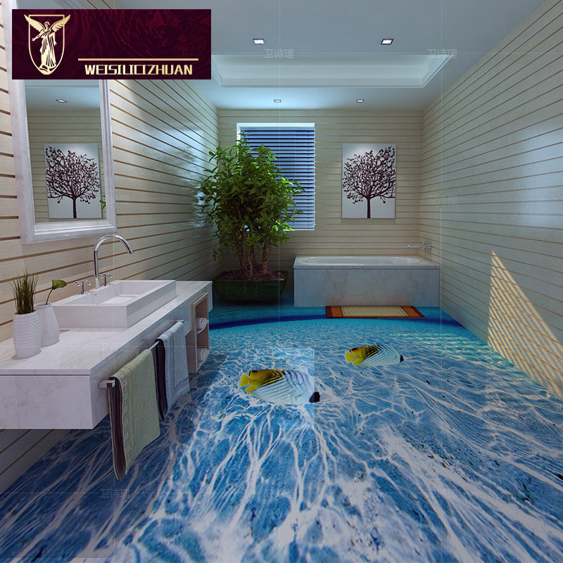2015 16 Fashion Bare 3d Beach 3d Floor Tile 3d Ceramic Tile 8d