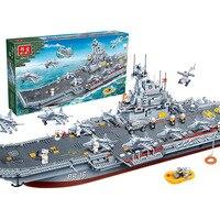 FANKE Модель Строительство Наборы блоки хобби модель комплект игрушки для детей Совместимые Lego Лепин BB8419 3016 шт. военный корабль M