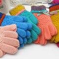 Luvas Luvas de Dedos de Inverno das crianças Meninas Bonito Bowknot Luvas De Malha De Cashmere