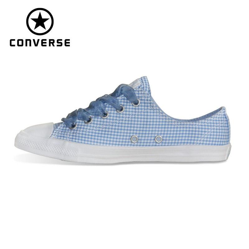 купить NEW CONVERSE All Star shoes women CONVERSE CTAS DAINTY OX low sneakers Skateboarding Shoes 560831C по цене 4164.35 рублей