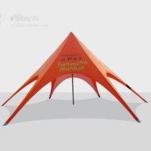 Быстрая сделанный солнцезащитный тент с узором в виде звезд навес, звезда беседка, Торговая выставка шатер палатка со звездами для наружного мероприятия