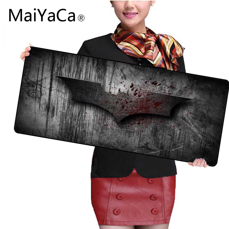 MaiYaCa Batman Large Gaming Locking Edge Mousepad Mouse Mat Keyboard Mat Table Mat Mouse Pads Keyboard Gaming MousePads