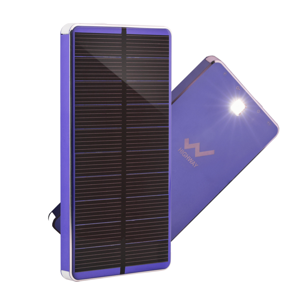 PowerGreen 10000mAh Solar Power Bank Charger with Led Light for Mobile Phone