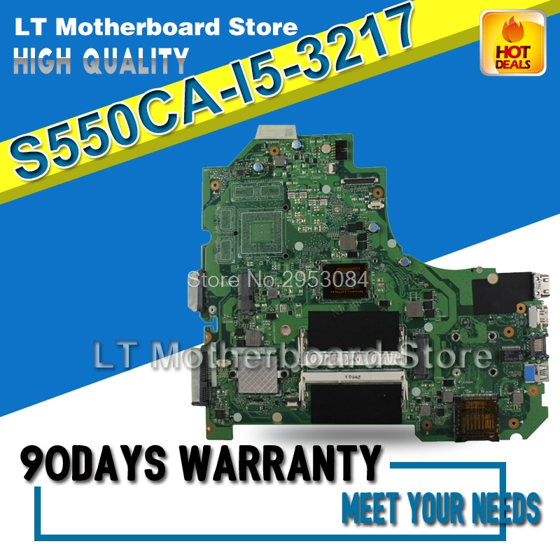 For ASUS S550CA Laptop Motherboard K56CM rev 2.0 with i5-3217 cpu GM Integrated HD Graphics 4000 Mainboard tested S-4 dhl ems sbc advantech pca 6148 rev a101 1 bios rev 2 00 am5x86 p75 s 133mhz cpu 8mb c3 d9