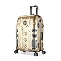 Aluminum Frame Suitcase TSA Lock Luggage Trolley Cabin mala de viagem Universal Wheel valise Koffer Travlel valise enfant