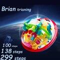 100 138 299 Passos Pequeno Tamanho Grande Labirinto 3D Magic Rolling Globo Bola Mármore Enigma Cérebro Teaser Do Jogo Cubos Esfera labirinto