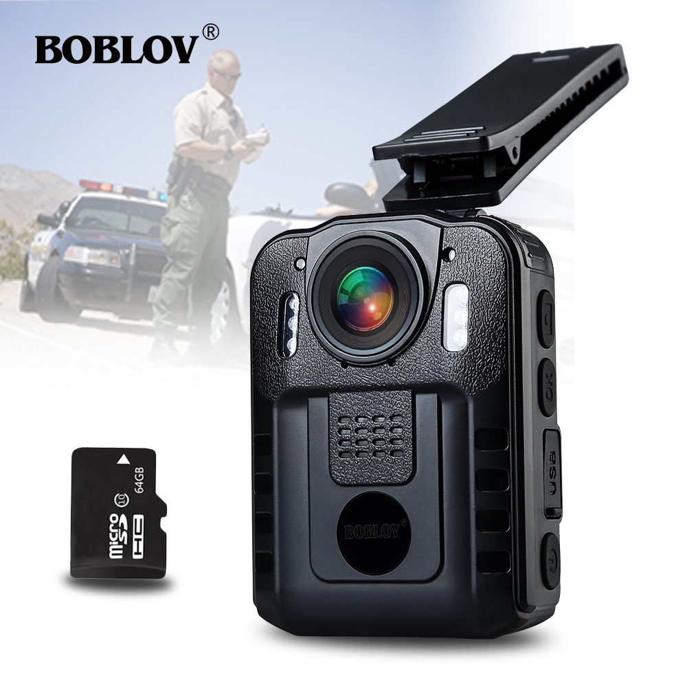 BOBLOV WN9 Novatek 96650 HD 1296P Wearable 32GB Body Wron Camera 170 Degree 2 Inch Screen