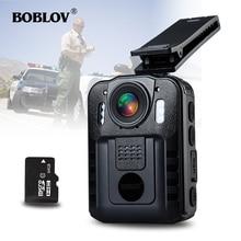 BOBLOV WN9 Novatek 96650 HD 1296P Wearable 32GB Body Wron Camera 170 Degree 2 Inch Screen Security Police Camera Mini Comcorder