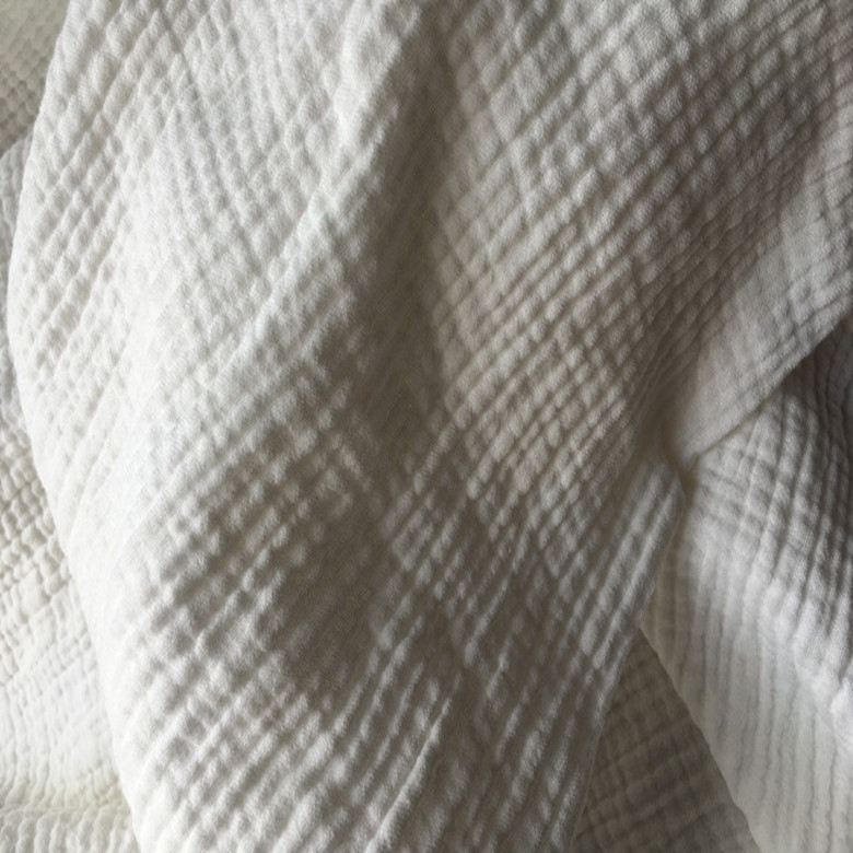 Natural 100% Cotton double Gauze Soft Fabric 140 cm 55'' width 125 gsm baby blanket sewing fabric 70 meters for sample test CD02