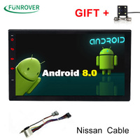 Funrover 2g+32g 2Din Android8.0 Car Dvd For Nissan Qashqai X trail Almera Pathfinder Teana Note Juke Multimedia Gps Player Real