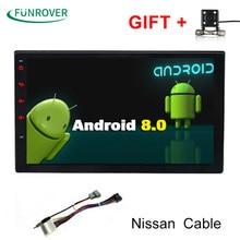 Funrover 2 г + 32 г 2Din Android8.0 автомобильный Dvd для Nissan Qashqai X-trail Almera Pathfinder Teana Примечание juke мультимедийный gps-плеер реального