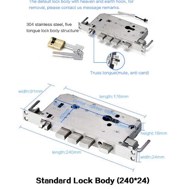 Biometric Electronic Fingerprint Door Lock Kyeless Smart Digital Safe WiFi App Bluetooth Fingerprint Lock