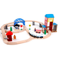 Бесплатная доставка Toy Транспорт для детей игрушки поезд игрушка модели автомобилей головоломки здание слот железнодорожных путей пути в н