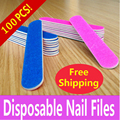 100 Pcs/lot Disposable Sandpaper Nail File For Manicure Tools 180/240 Grit Nail Files Buffer Buffing Slim Crescent Grit