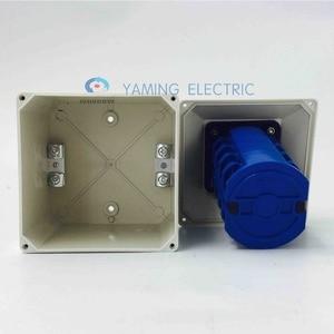 Image 4 - Yaming 전기 YMW26 63/4 m 전환 캠 스위치 63a 4 극 3 위치 방수 인클로저 인터럽트 전기