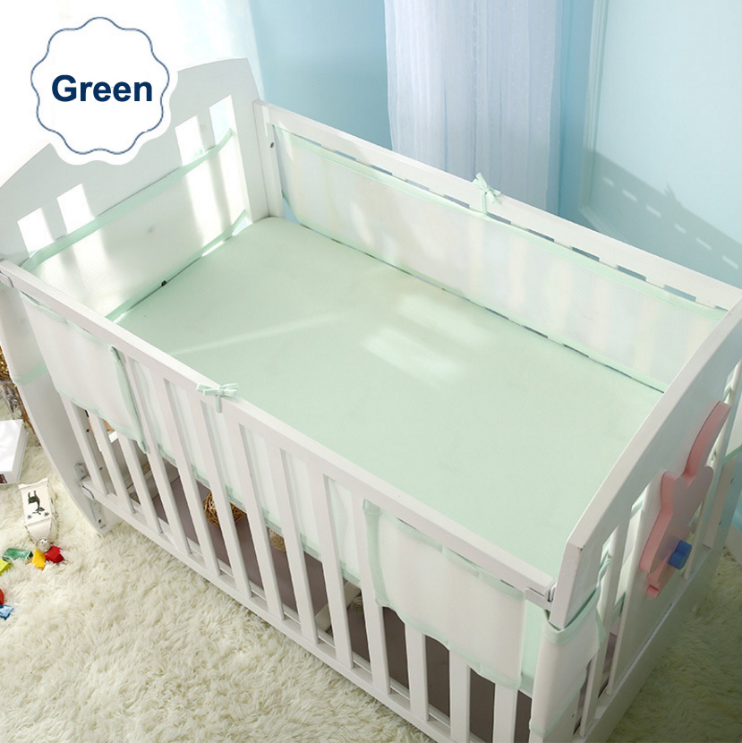 Baby crib bumper Breathable mesh Infant cot bumper,children bumper Crib Liner Baby Cot Sets Bed Around Protector