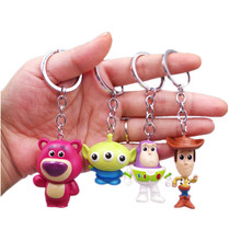 Toy Story 4 Woody Buzz Lightyear PVC Action Figure Keychain Set Doll Toys Children's Gifts free shipping 1pcs toy story pop woody action pvc figure toy tall 16cm in box for collection