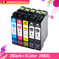 Qsyrainbow чернильные картриджи 288xl T288xl E-288xl совместимый для Epson XP240 XP340 XP440 XP344 принтер