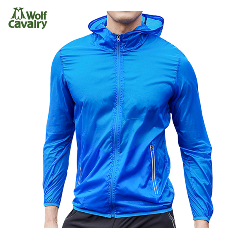 CavalryWolf New Men's Waterproof Softshell UV Jacket Spring Windbreaker Outdoor Camping Fishing Trekking Running Male Coat MA181