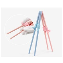 3 Pair Lovely Cartoon Bear Chopsticks Accessories Kids Children Learning Training Use Chinese Chopstick Gadget Kitchen Tableware humanized design learning training chopsticks for beginner random color pair
