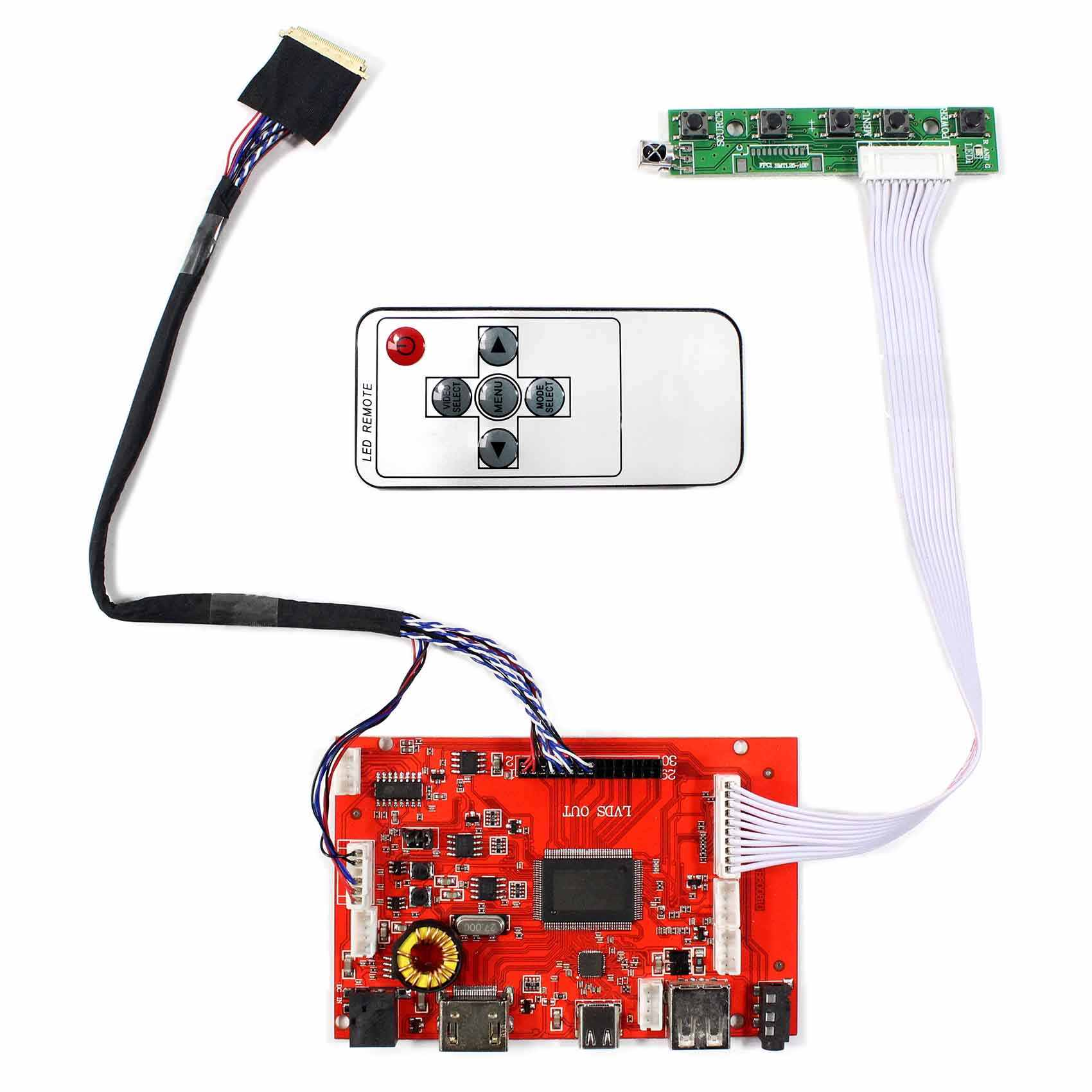 hdmi type-c lcd controller board work for 14inch 15 6inch 1366x768  ltn140at02 b140xw02 lp156wh2