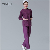 Viaoli Medical Uniforms Nursing Scrubs Clothes For Beauty Shop Short Sleeve Doctor Clothing Uniformes Hospital Women