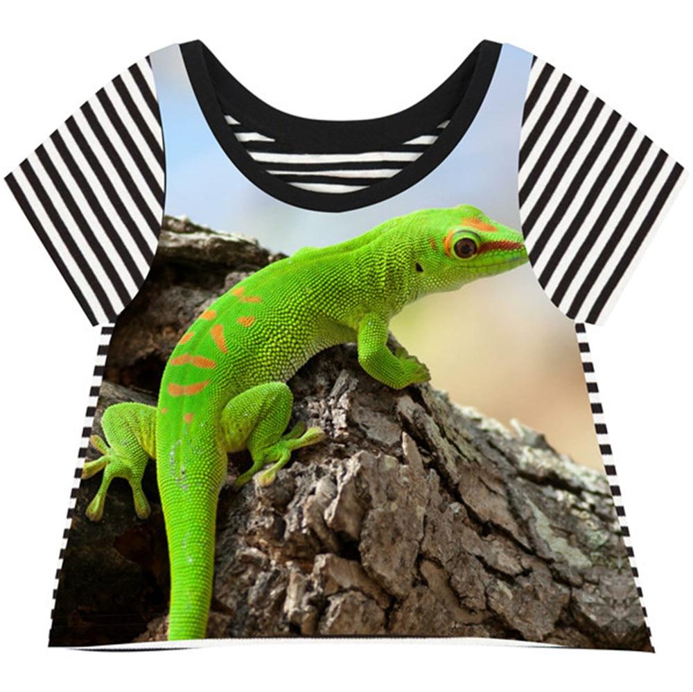 Design t shirt en ligne - Hippie Filles T Shirt L Zard Conception 3d Imprim T Shirt Mar E De Fille Cool