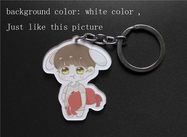 US $19 0 |custom acrylic keychains with Your own artwork design key chain  with white background color-in Key Chains from Jewelry & Accessories on