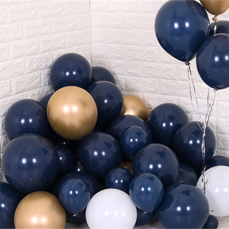 100pcs/lot Navy Blue Balloons Latex Dark Blue Kids Favor Party Decor Balloons Birthday Baby Shower Bridal Shower Party Supplies