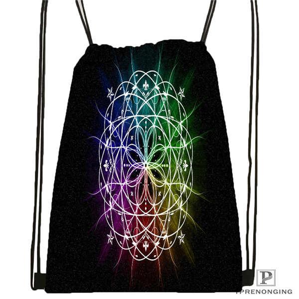 Custom Mandala El Laberinto De Rosa Drawstring Backpack Bag Cute Daypack Kids Satchel (Black Back) 31x40cm#20180611-02-99