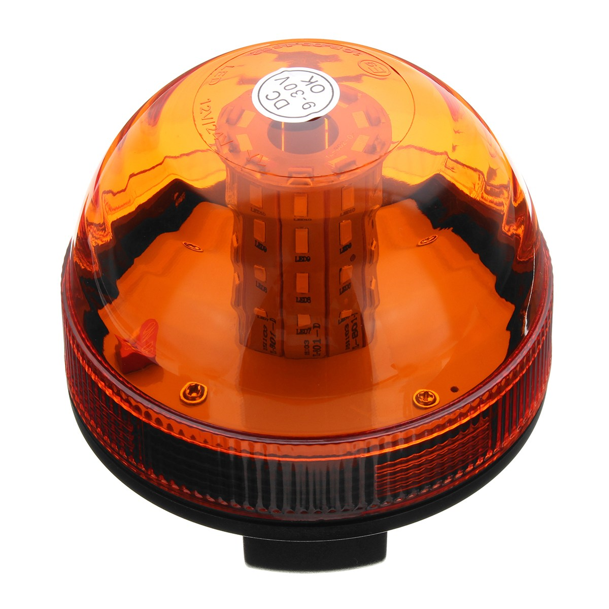 Car Truck 40 LED Rotating Flashing Amber Beacon Flexible Tractor Warning Light Roadway Safety