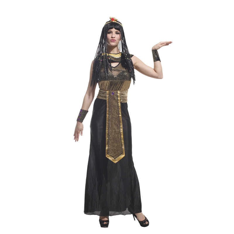 Adult Ancient Egypt Egyptian Empress Queen Halloween Costume 1