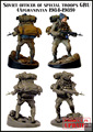 SOVIET OFFICER OF SPECIAL TROOPS GRU (AFGHANISTAN 1984-1989) 1/35 Resin Model Kit Free Shipping