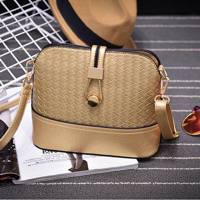 Women Sling Bags Weave shell Women Shoulder Bags Fashion Leather Sling Crossbady Bag messenger bag 4
