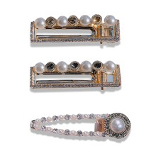 1PC Fashion Pearl Diamond Hairgrips Vintage Elegant Gorgeous Baroque Hair Accessories Hollow Geometric Hairpins Barrettes