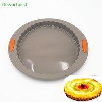 Антипригарный пицца выпечка круглой формы Форма 3D силиконовый Киш форма для выпечки торта молд, аксессуары для выпечки прессформы лоток дл...